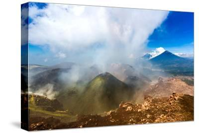On the summit of the active Pacaya Volcano, Guatemala, Central America-Laura Grier-Stretched Canvas Print