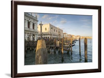 Doge's Palace and Grand Canal, Venice, UNESCO World Heritage Site, Veneto, Italy, Europe-Frank Fell-Framed Photographic Print