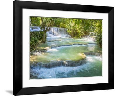 Keang Si waterfalls, near Luang Prabang, Laos, Indochina, Southeast Asia, Asia-Melissa Kuhnell-Framed Photographic Print