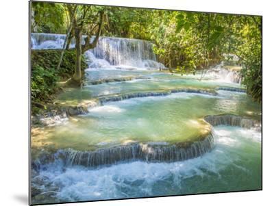 Keang Si waterfalls, near Luang Prabang, Laos, Indochina, Southeast Asia, Asia-Melissa Kuhnell-Mounted Photographic Print