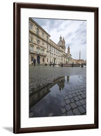 Piazza Navona with Fountain of the Four Rivers and the Egyptian obelisk, Rome, Lazio, Italy, Europe-Roberto Moiola-Framed Photographic Print