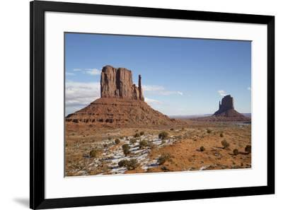 West Mitten Butte on left and East Mitten Butte on right, Monument Valley Navajo Tribal Park, Utah,-Richard Maschmeyer-Framed Photographic Print