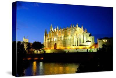 La Seu, the Cathedral of Santa Maria of Palma, Majorca, Balearic Islands, Spain, Europe-Carlo Morucchio-Stretched Canvas Print