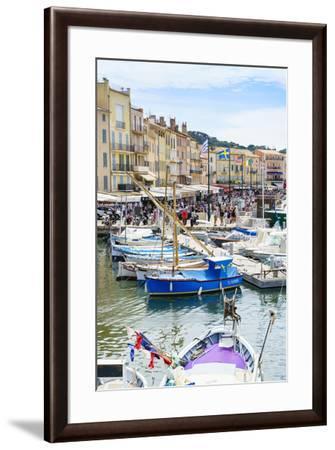 Quai Jean Jaures, Saint-Tropez, Var, Cote d'Azur, Provence, France, Mediterranean, Europe-Fraser Hall-Framed Photographic Print