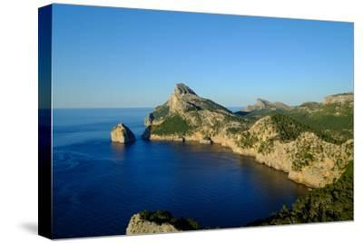 Punta Nau seen from el Mirador Es Colomer in the Formentor Peninsula, Majorca, Balearic Islands, Sp-Carlo Morucchio-Stretched Canvas Print