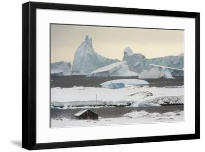 Vernadsky Research Base, the Ukrainian Antarctic station at Marina Point on Galindez Island in the -Sergio Pitamitz-Framed Photographic Print