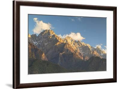 Tiger Leaping Gorge, UNESCO World Heritage Site, and Jade Dragon Snow Mountain (Yulong Xueshan), Yu-Ian Trower-Framed Photographic Print