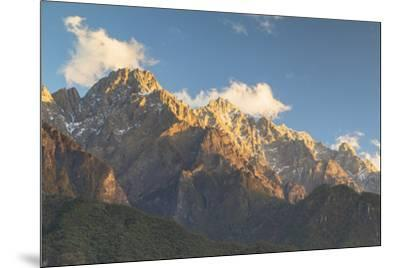 Tiger Leaping Gorge, UNESCO World Heritage Site, and Jade Dragon Snow Mountain (Yulong Xueshan), Yu-Ian Trower-Mounted Photographic Print