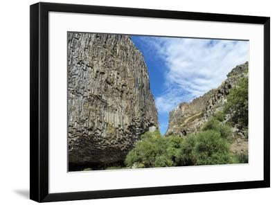Symphony of Stones, Basalt columns formation along Garni gorge, Kotayk Province, Armenia, Caucasus,-G&M Therin-Weise-Framed Photographic Print