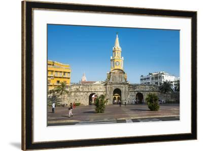 Torre del Reloj Publico (Public Clock Tower), UNESCO World Heritage Site, Cartagena, Colombia, Sout-Michael Runkel-Framed Photographic Print