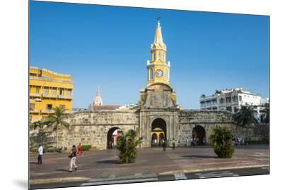 Torre del Reloj Publico (Public Clock Tower), UNESCO World Heritage Site, Cartagena, Colombia, Sout-Michael Runkel-Mounted Photographic Print