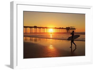 Scripps Pier, La Jolla, San Diego, California, United States of America, North America-Richard Cummins-Framed Photographic Print