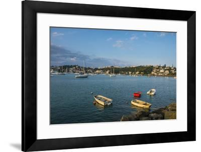 Little boats in the Magenta Port Sud, bay, Noumea, New Caledonia, Pacific-Michael Runkel-Framed Photographic Print