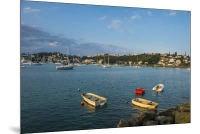 Little boats in the Magenta Port Sud, bay, Noumea, New Caledonia, Pacific-Michael Runkel-Mounted Photographic Print