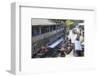 Damnoen Saduak Floating Markets, Bangkok, Thailand, Southeast Asia, Asia-Frank Fell-Framed Photographic Print
