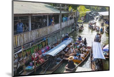 Damnoen Saduak Floating Markets, Bangkok, Thailand, Southeast Asia, Asia-Frank Fell-Mounted Photographic Print