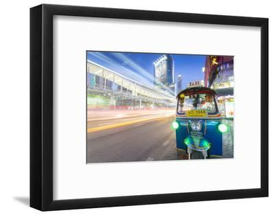 Traffic and Tuk Tuk on Ratchadamri Road, Bangkok, Thailand, Southeast Asia, Asia-Frank Fell-Framed Photographic Print