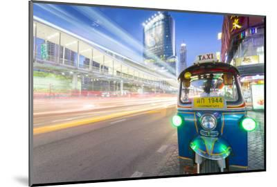 Traffic and Tuk Tuk on Ratchadamri Road, Bangkok, Thailand, Southeast Asia, Asia-Frank Fell-Mounted Photographic Print