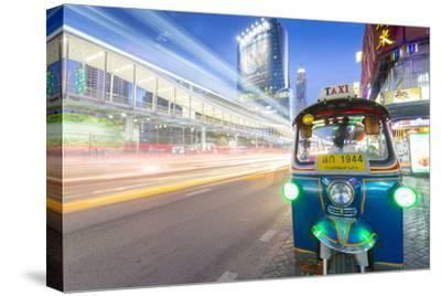 Traffic and Tuk Tuk on Ratchadamri Road, Bangkok, Thailand, Southeast Asia, Asia-Frank Fell-Stretched Canvas Print