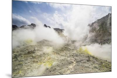 Sulphur pieces on Iozan (sulfur mountain) active volcano area, Akan National Park, Hokkaido, Japan,-Michael Runkel-Mounted Photographic Print