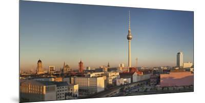 View over Alexanderstrasse to TV Tower, Rotes Rathaus (Red Town Hall), Hotel Park Inn and Alexa sho-Markus Lange-Mounted Premium Photographic Print