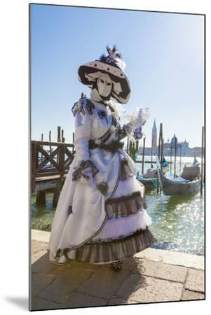 Colourful mask and costume of the Carnival of Venice, famous festival worldwide, Venice, Veneto, It-Roberto Moiola-Mounted Photographic Print