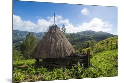 Traditional house in the mountains, Maubisse, East Timor, Southeast Asia, Asia-Michael Runkel-Mounted Photographic Print