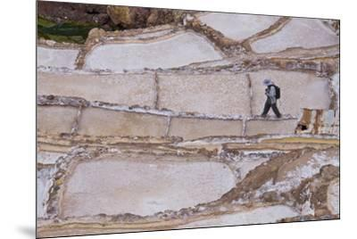 Maras Saltpan Salinas in the Sacred Valley of the Incas, near Cusco, Peru, South America-Julio Etchart-Mounted Photographic Print