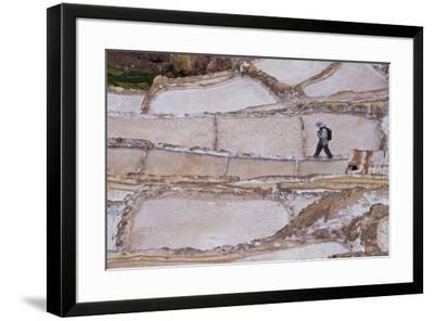 Maras Saltpan Salinas in the Sacred Valley of the Incas, near Cusco, Peru, South America-Julio Etchart-Framed Photographic Print