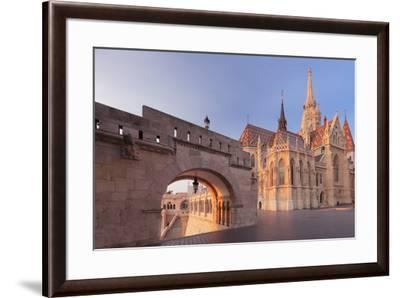 Matthias Church, Fisherman's Bastion, Buda Castle Hill, Budapest, Hungary, Europe-Markus Lange-Framed Photographic Print