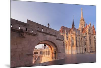 Matthias Church, Fisherman's Bastion, Buda Castle Hill, Budapest, Hungary, Europe-Markus Lange-Mounted Photographic Print