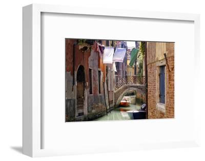 Clothes lines, Venice, UNESCO World Heritage Site, Veneto, Italy, Europe-Hans-Peter Merten-Framed Photographic Print