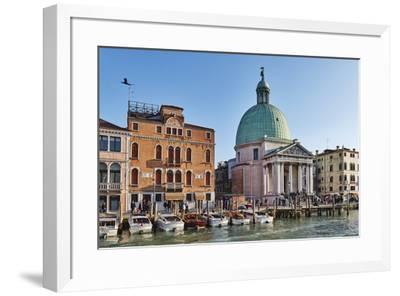 San Simeone Piccolo church on the Grand Canal, Venice, UNESCO World Heritage Site, Veneto, Italy, E-Marco Brivio-Framed Photographic Print