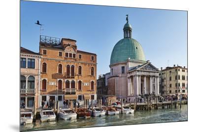 San Simeone Piccolo church on the Grand Canal, Venice, UNESCO World Heritage Site, Veneto, Italy, E-Marco Brivio-Mounted Photographic Print