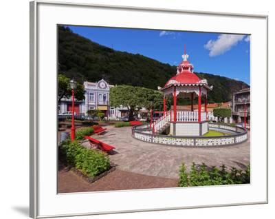 Bandstand in Jardim da Republica, Velas, Sao Jorge Island, Azores, Portugal, Atlantic, Europe-Karol Kozlowski-Framed Photographic Print