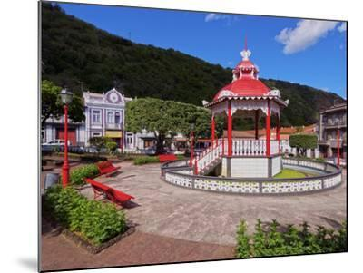Bandstand in Jardim da Republica, Velas, Sao Jorge Island, Azores, Portugal, Atlantic, Europe-Karol Kozlowski-Mounted Photographic Print