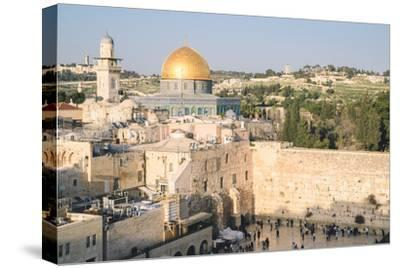 Temple Mount, Dome of the Rock, Redeemer Church and Old City in Jerusalem, Israel, Middle East-Alexandre Rotenberg-Stretched Canvas Print