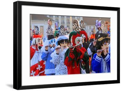 Carnival of Basel (Basler Fasnacht), Basel, Canton of Basel City, Switzerland, Europe-Hans-Peter Merten-Framed Photographic Print