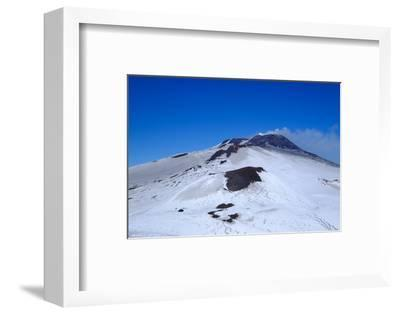 Active summit craters, Mount Etna, UNESCO World Heritage Site, Catania, Sicily, Italy, Europe-Carlo Morucchio-Framed Photographic Print