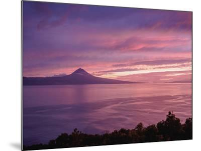 View towards the Pico Island at sunset, Sao Jorge Island, Azores, Portugal, Atlantic, Europe-Karol Kozlowski-Mounted Photographic Print