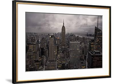 New York City skyline from above, New York, United States of America, North America-David Rocaberti-Framed Photographic Print