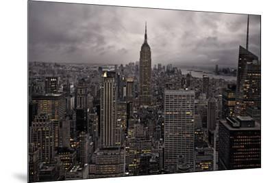 New York City skyline from above, New York, United States of America, North America-David Rocaberti-Mounted Photographic Print