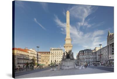 Praca dos Restauradores, Obelisk, Avenida da Liberdade, Lisbon, Portugal, Europe-Markus Lange-Stretched Canvas Print