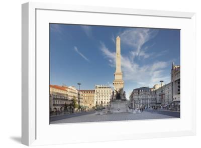 Praca dos Restauradores, Obelisk, Avenida da Liberdade, Lisbon, Portugal, Europe-Markus Lange-Framed Photographic Print