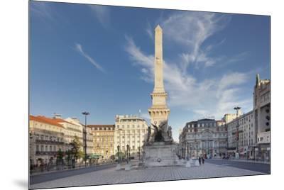Praca dos Restauradores, Obelisk, Avenida da Liberdade, Lisbon, Portugal, Europe-Markus Lange-Mounted Photographic Print