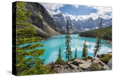 Moraine Lake and the Valley of the Ten Peaks, Banff National Park, UNESCO World Heritage Site, Cana-Frank Fell-Stretched Canvas Print