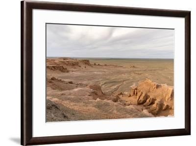 Flaming cliffs, Bajanzag, South Gobi province, Mongolia, Central Asia, Asia-Francesco Vaninetti-Framed Photographic Print