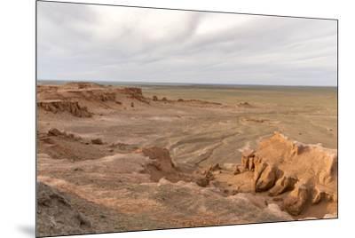 Flaming cliffs, Bajanzag, South Gobi province, Mongolia, Central Asia, Asia-Francesco Vaninetti-Mounted Photographic Print