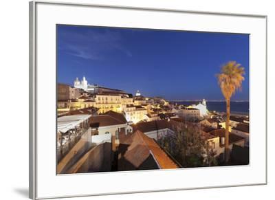 Santa Luzia viewpoint, Sao Vicente de Fora monastery, National Pantheon, Alfama district, Lisbon, P-Markus Lange-Framed Photographic Print