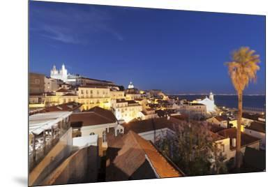 Santa Luzia viewpoint, Sao Vicente de Fora monastery, National Pantheon, Alfama district, Lisbon, P-Markus Lange-Mounted Photographic Print